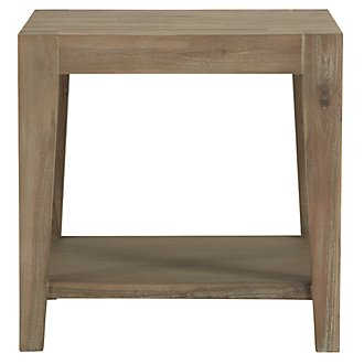 Kalahari Light Tone Wood Square End Table