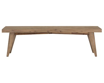 Casablanca Light Tone Dining Bench