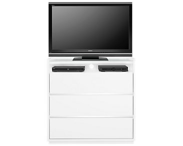 Neo White Media Chest