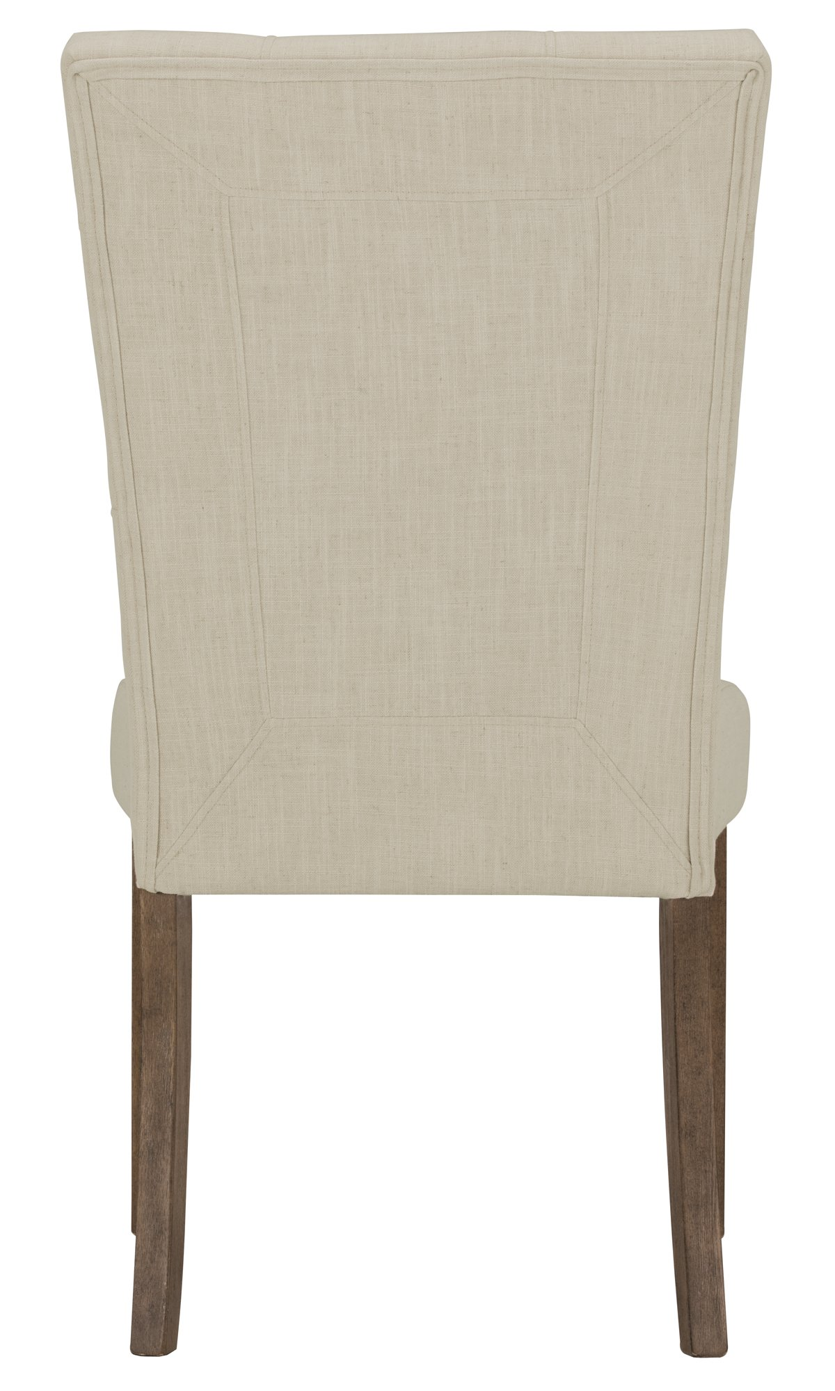 Emmett White Fabric Upholstered Side Chair