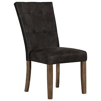 Emmett Gray Bonded Leather Side Chair