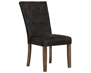 Emmett Gray Bonded Leather Side Chair