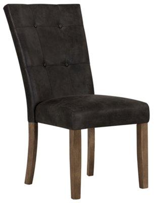 Emmett Gray Bonded Leather Side Chair ...