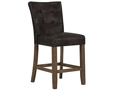 "Emmett Gray 24"" Bonded Leather Barstool"