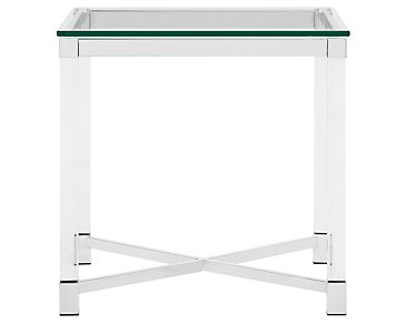 Talia Glass Square End Table