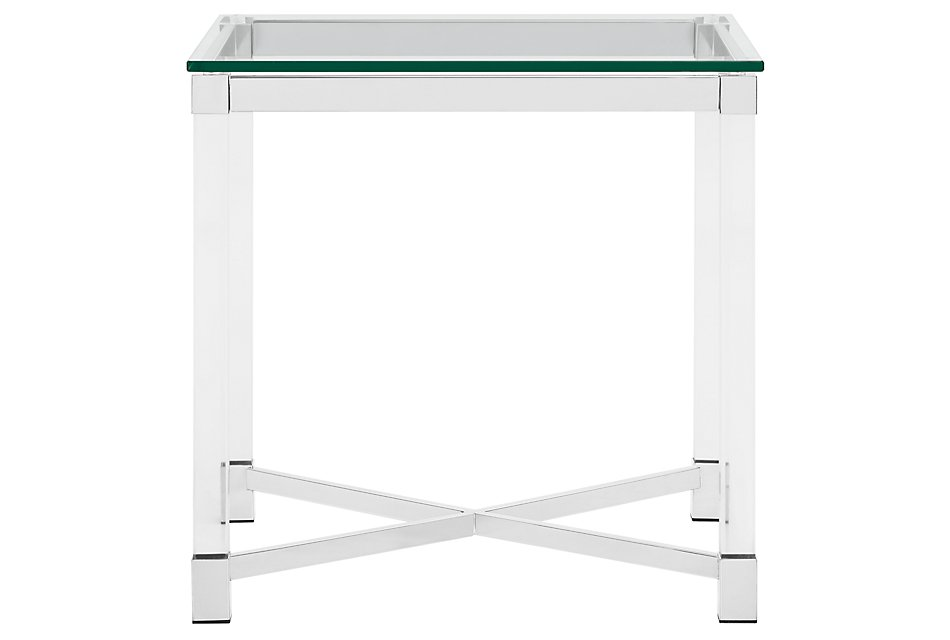 Talia Glass  Square End Table