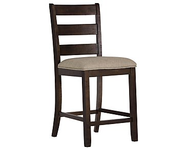 "Sawyer Dark Tone 24"" Wood Barstool"