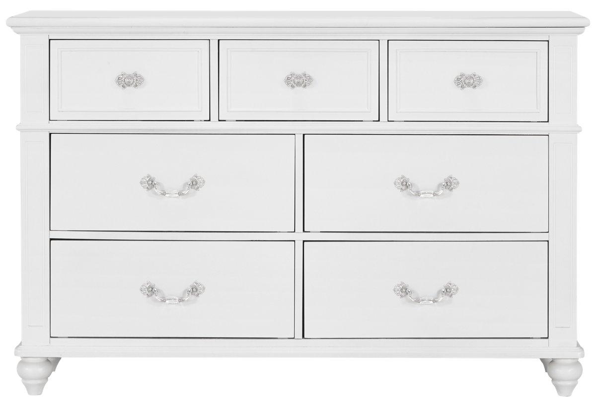 Alana White Wood Dresser