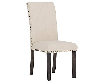 Portia Dark Tone Upholstered Side Chair