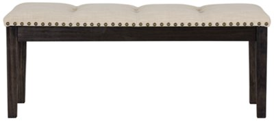 portia dark tone upholstered dining bench