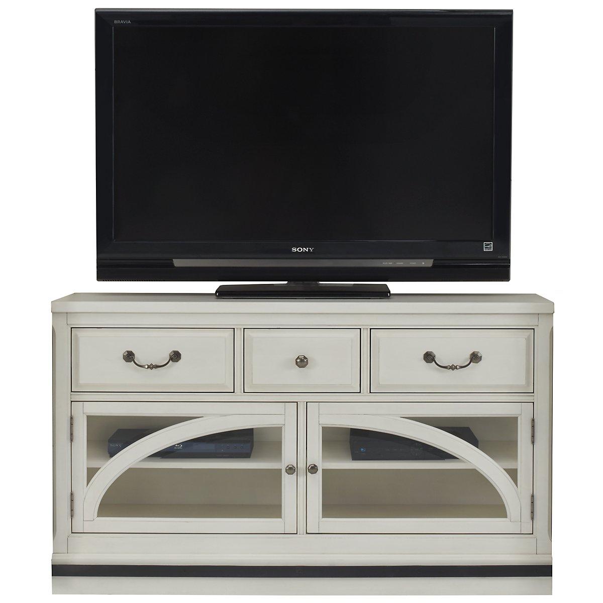 "Hancock White 58"" TV Stand"