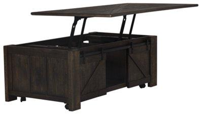 Garrett Dark Tone Castored Lift Coffee Table. Garrett Dark Tone Castored Lift  Coffee Table