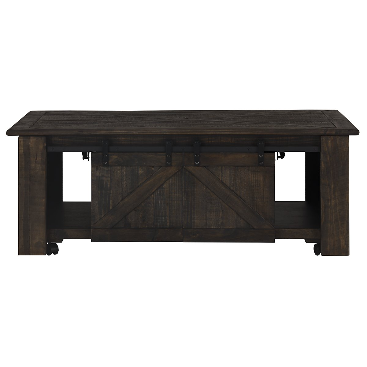 Garrett Dark Tone Wood Lift Coffee Table