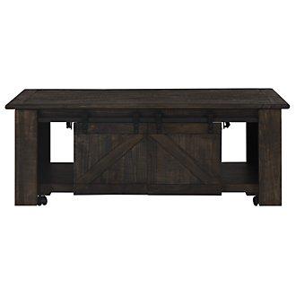 Garrett Dark Tone Castored Lift Coffee Table