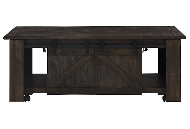 Lift Coffee Table.Garrett Dark Tone Wood Lift Coffee Table
