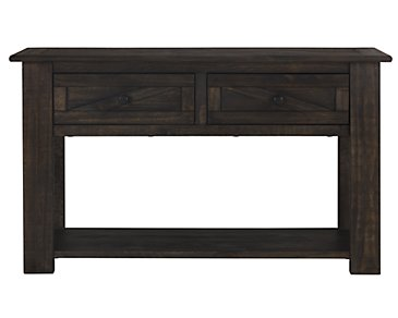 Garrett Dark Tone Storage Sofa Table