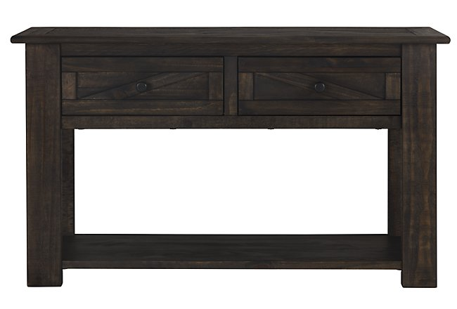 Kona Grove Dark Tone Storage Sofa Table | Living Room - Sofa ...