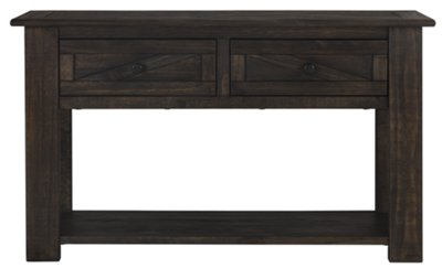 Garrett Dark Tone Wood Storage Sofa Table