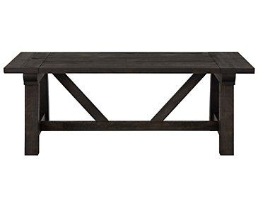 Bridgewater Black Rectangular Coffee Table