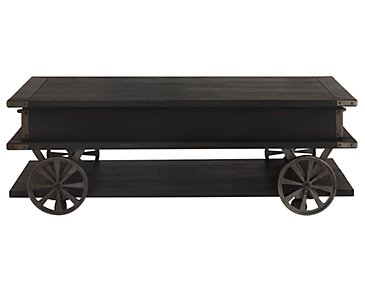 Milford Black Rectangular Coffee Table