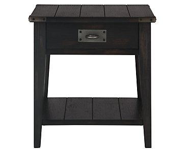 Milford Black Rectangular End Table