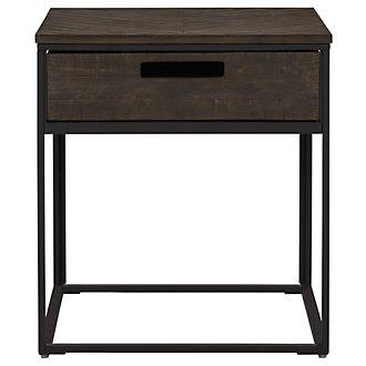 Claremont Dark Gray Rectangular End Table
