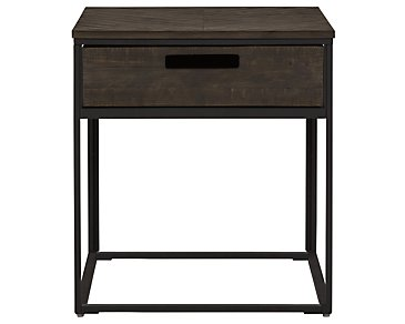 Claremont Dark Gray Rectangular End Table