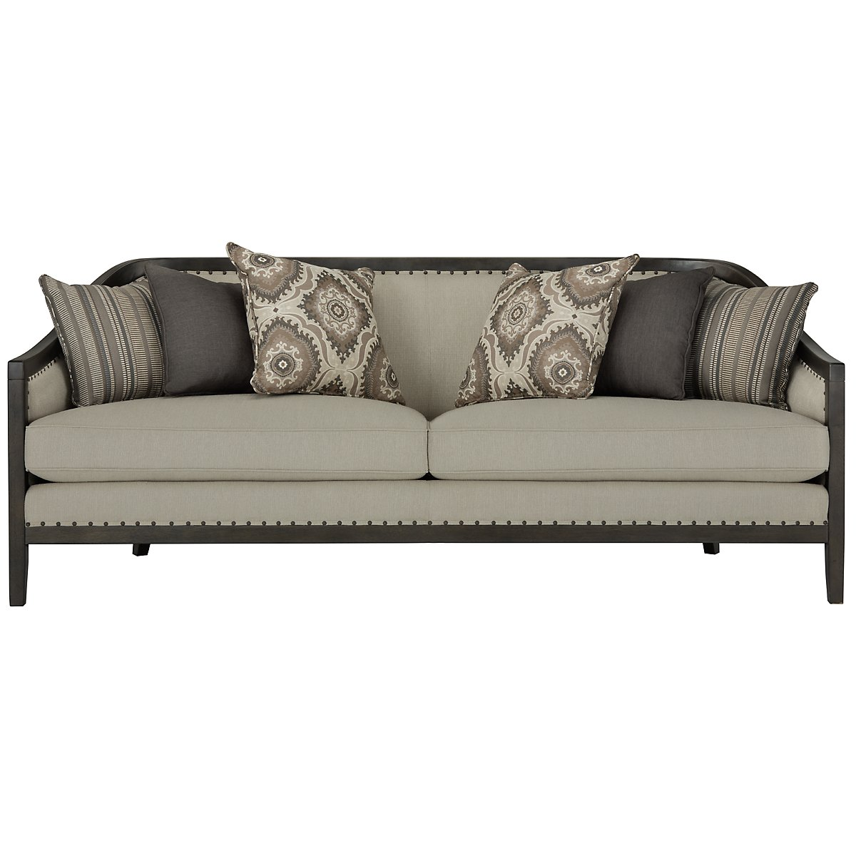 Colburn Taupe Fabric Sofa