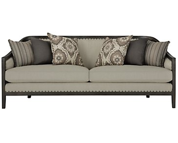 Colburn Taupe Fabric Sofa