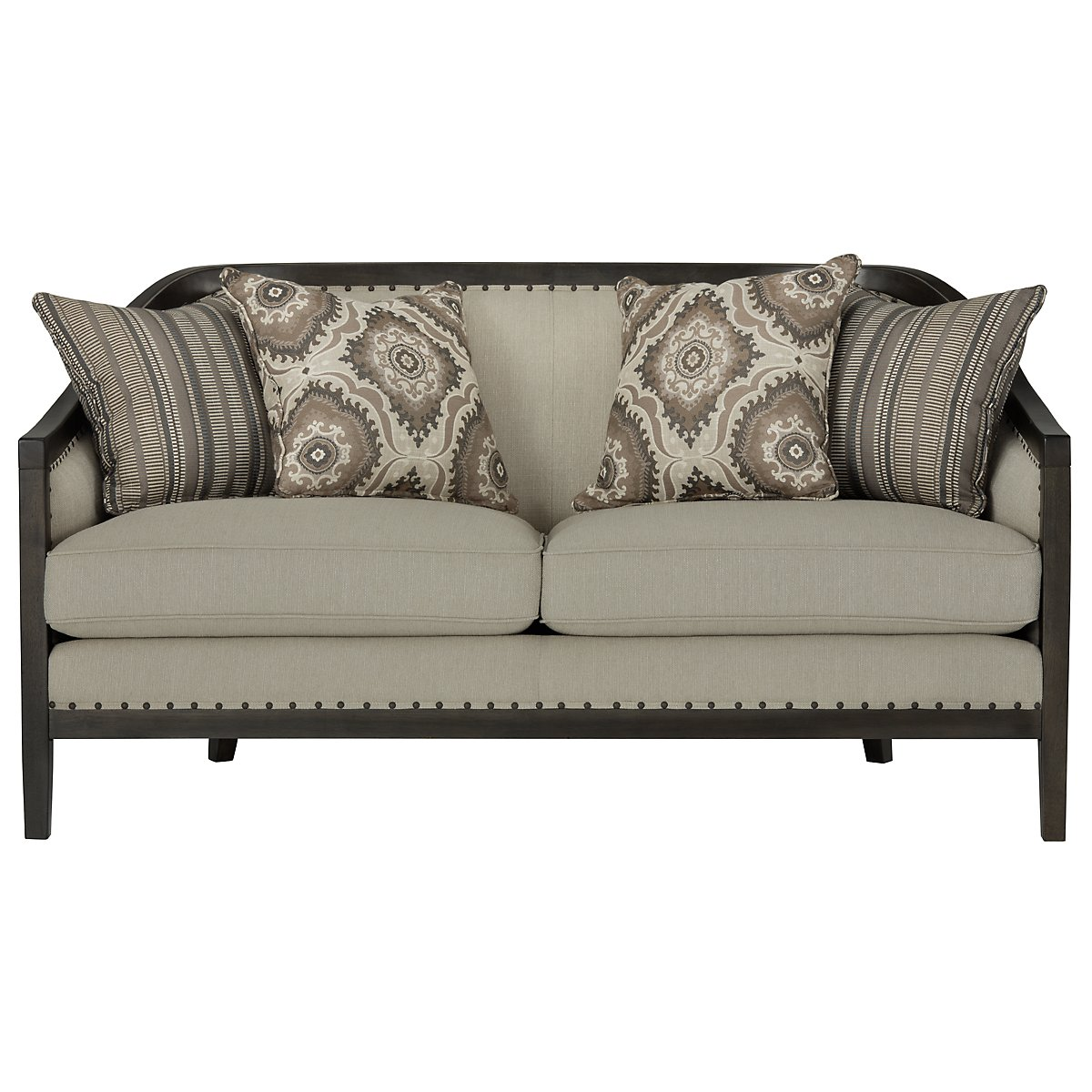 room furniture with sofa living loveseat itm cushion fabric linen couch gray modern