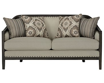 Colburn Taupe Fabric Loveseat