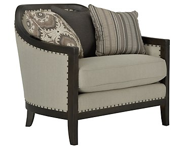 Colburn Taupe Fabric Chair