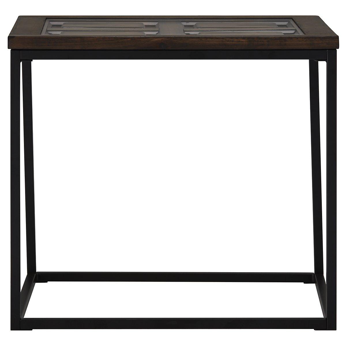 Rochester Dark Tone Metal Rectangular End Table