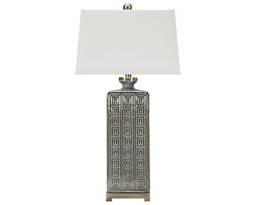 Casale Light Gray Table Lamp
