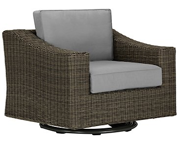 Canyon3 Gray Swivel Chair