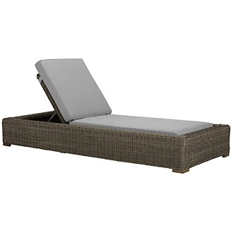 Canyon3 Gray Cushioned Chaise