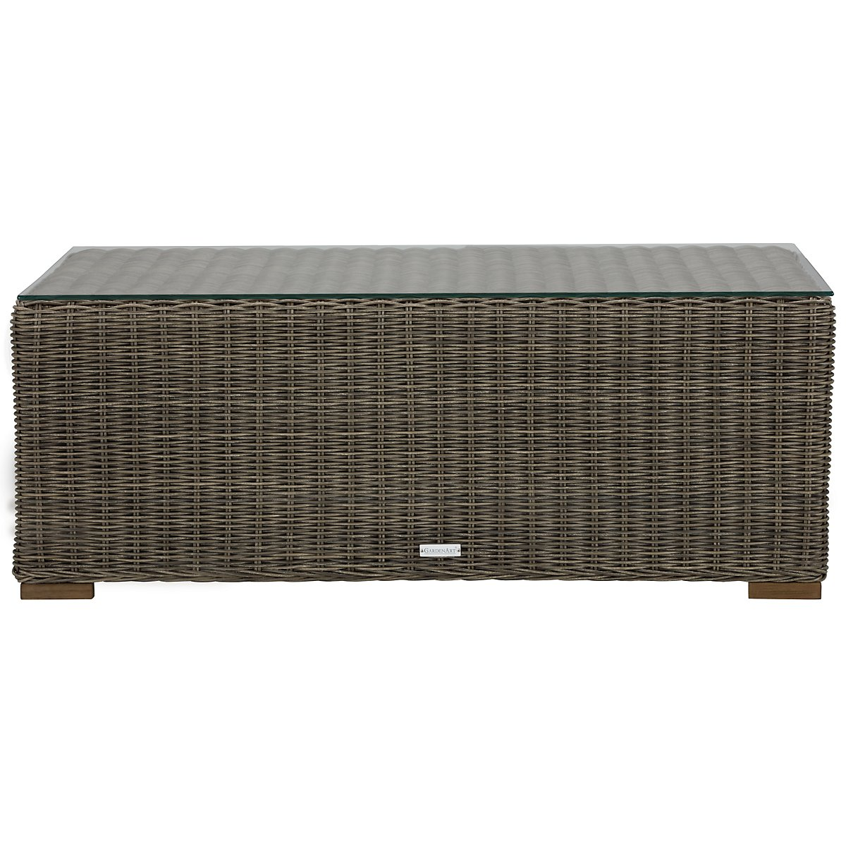 Canyon3 Gray Glass Coffee Table