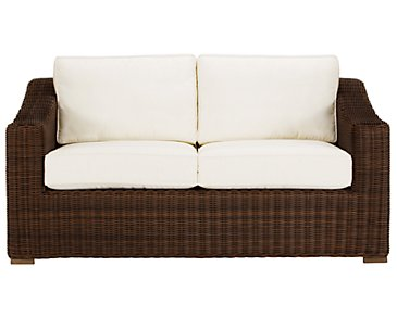 Canyon3 Dark Brown Loveseat