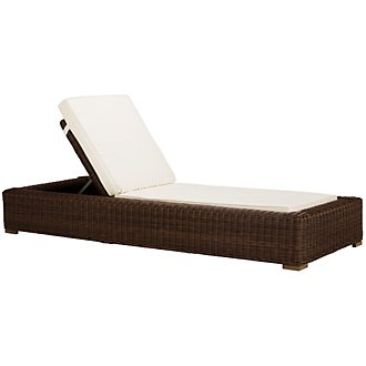 Canyon3 Dark Brown Cushioned Chaise