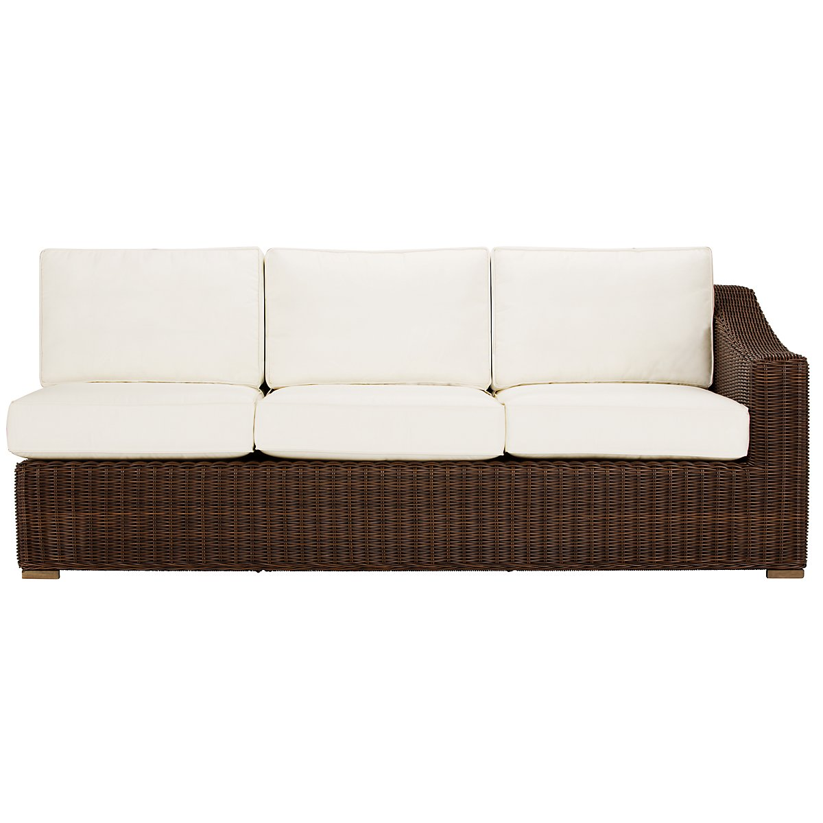 City furniture canyon3 dk brown large two arm sectional for Sofa with only one arm