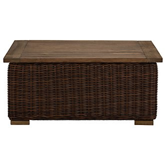 Canyon3 Dark Brown Wood Coffee Table