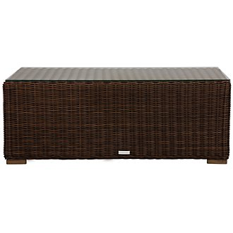 Canyon3 Dark Brown Glass Coffee Table