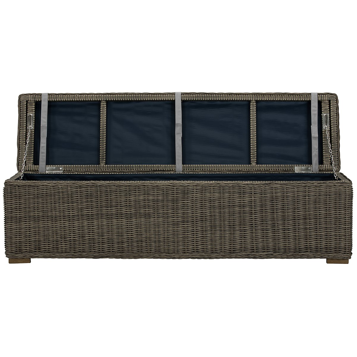 Canyon3 Gray Woven Dining Bench