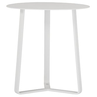 Ibiza White Round End Table