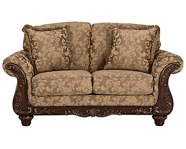 Irwindale Multicolored Fabric Loveseat