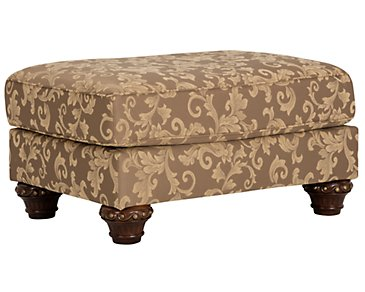 Irwindale Multicolored Fabric Ottoman