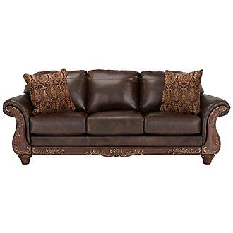 Irwindale Dark Brown Bonded Leather Sofa