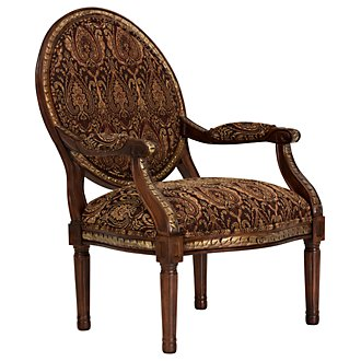 Irwindale Paisley Fabric Accent Chair