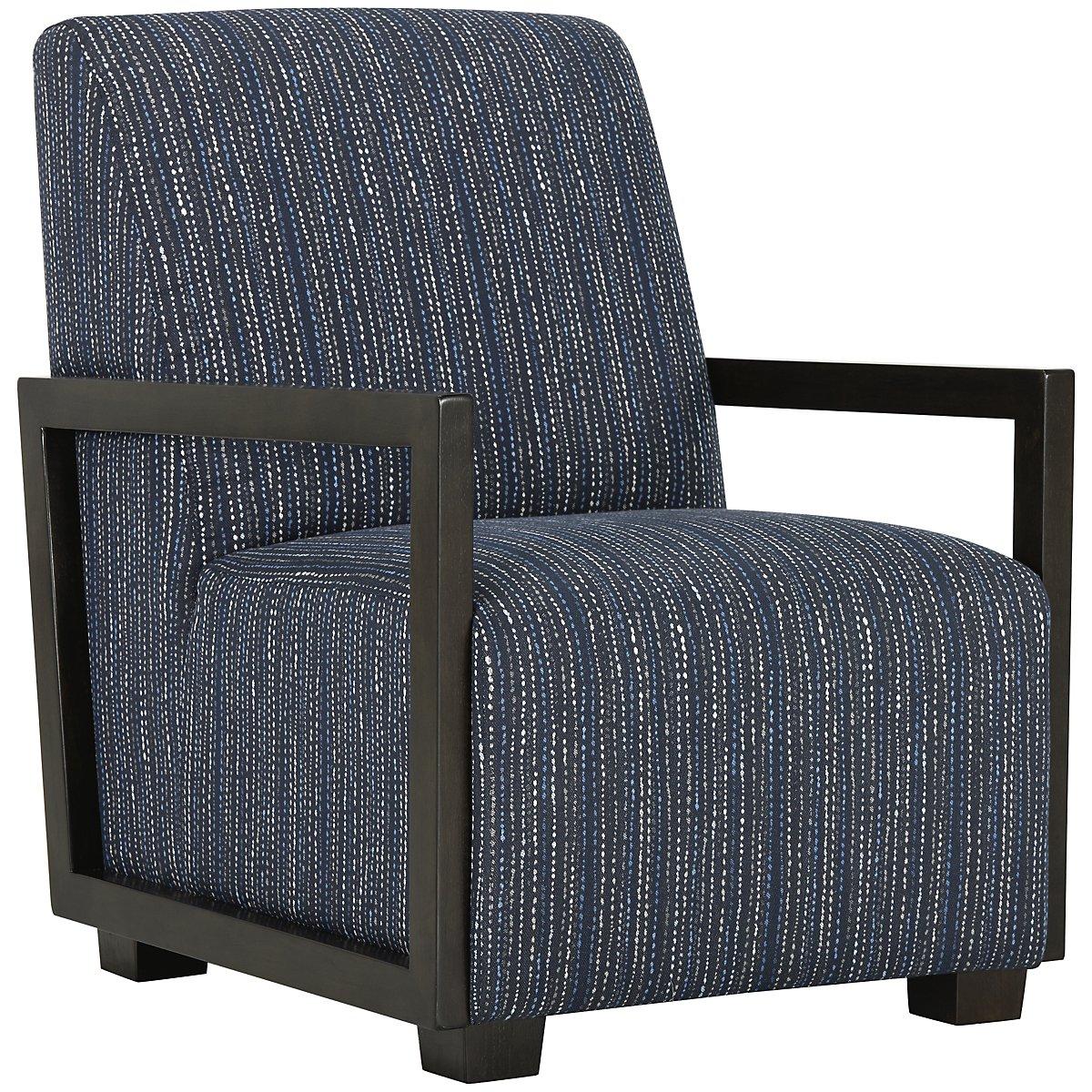 Kendleton Dark Blue Microfiber Accent Chair