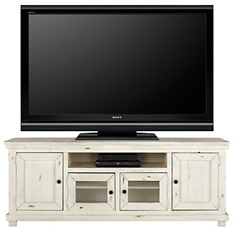 "Willow White 74"" TV Stand"